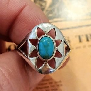 Vintage .925 Sterling & Turqouise Southwest Ring